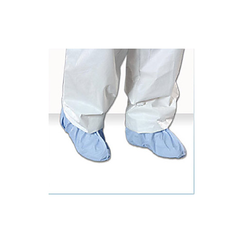 2X-Large Blue Critical Cover AquaTrak Shoecover w/ Seamless Sole and Serged Seams (75 Pairs/Case) - AC-SH91184B