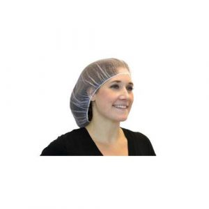 "24"" White Polyester Heavy Weight Hair Net (1000/Case) - AC-DPHN241"