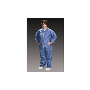 2X-Large Blue Critical Cover AlphaGuard Coveralls w/ Elastic Wrists and Ankles (25/Case) - AC-CV840325