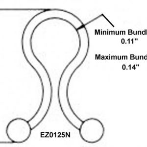 "1/8"" Diameter EZ-Twist-Locks (2000 Twist Locks) -EZ0125N"