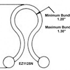 "1-1/8"" Diameter EZ-Twist-Locks (1000 Twist Locks) -EZ1125N"