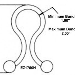 "1-3/4"" Diameter EZ-Twist-Locks (1000 Twist Locks) -EZ1750N"