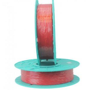 2,000 ft. Polycore Red Non-Metallic Twist Tie Ribbons (12 Spools) - 17-2000-Red