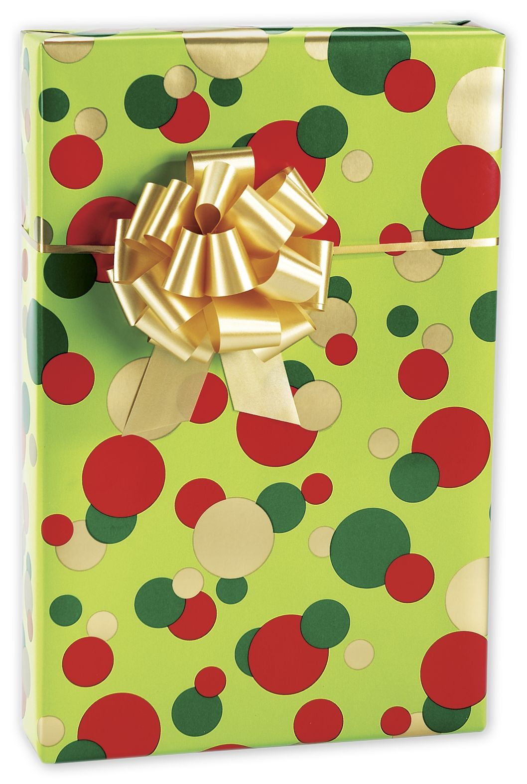 "Christmas Dots Gift Wrap, 24"" x 417' (1 roll) - BOWS-M-5304H"