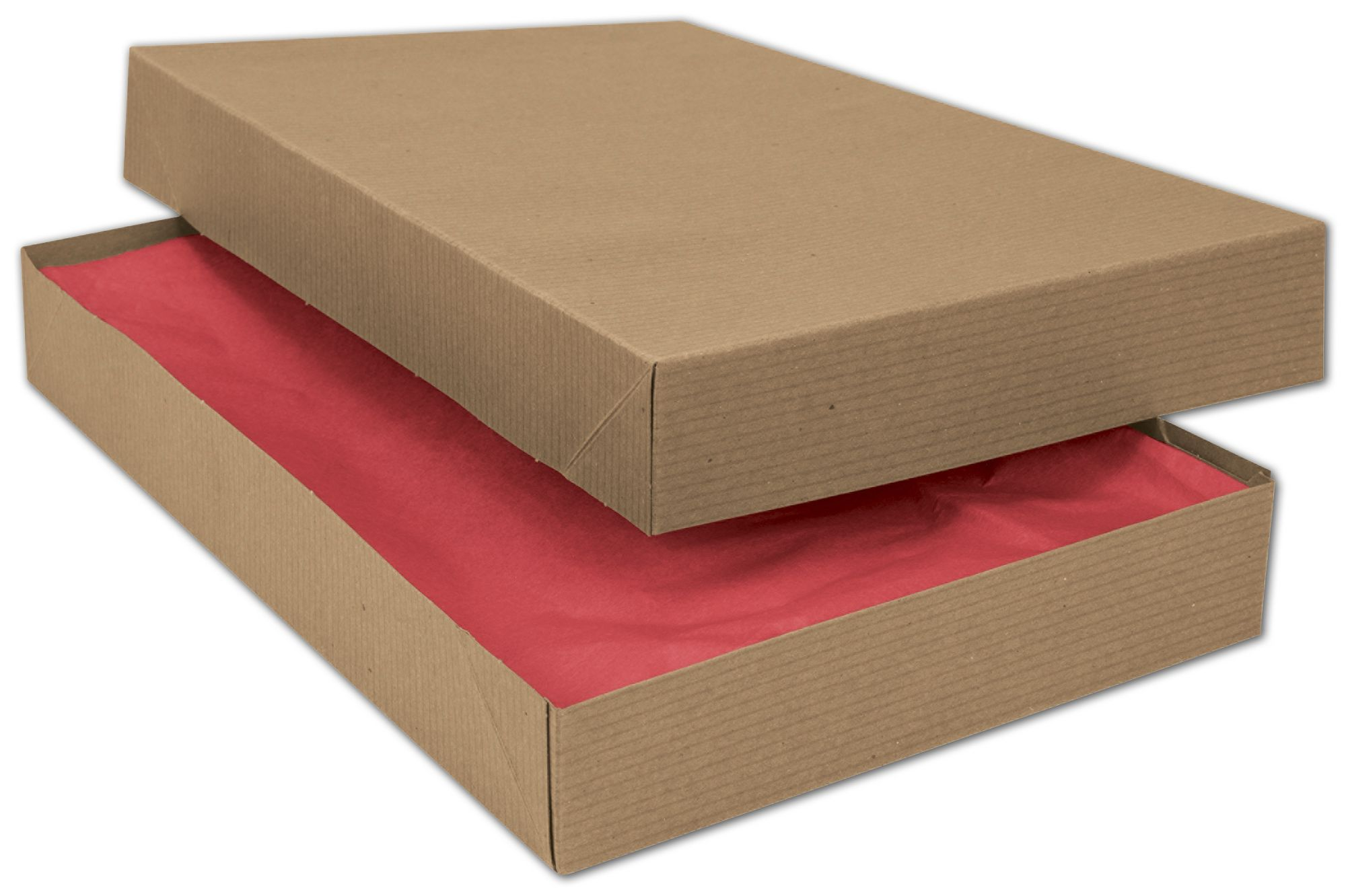 "Kraft Two-Piece Apparel Boxes, 15 x 9 1/2 x 2"" (100 Boxes) - BOWS-51-150902C-8"