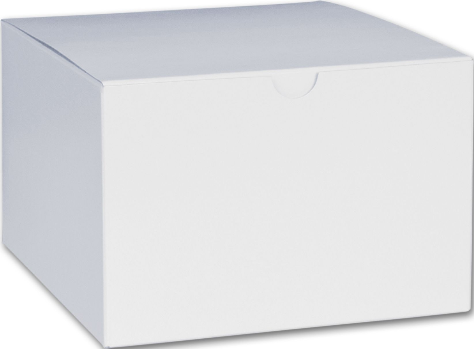 "White One-Piece Gift Boxes, 6 x 6 x 4"" (100 Boxes) - BOWS-250-060604C-9"