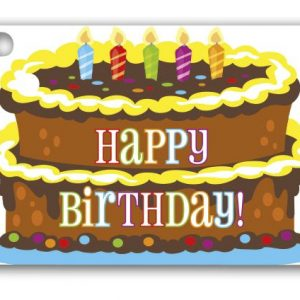 "Birthday Cake Gift Tags, 3 3/4 x 2 3/4"" (3 Packs) (6 Tags/Pack) - BOWS-GC-BCKE"