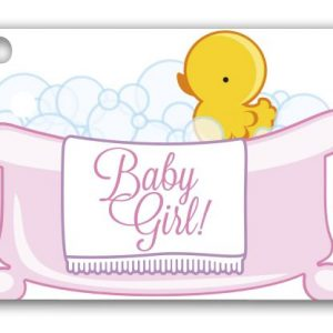"""Baby Girl Bubbles Gift Tags, 3 3/4 x 2 3/4"""" (3 Packs) (6 Tags/Pack) - BOWS-GC-BGRL"""