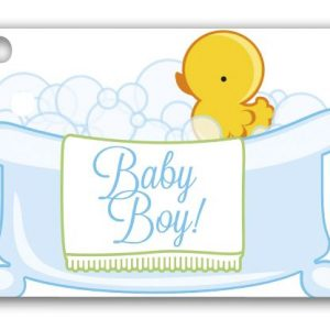 "Baby Boy Bubbles Gift Tags, 3 3/4 x 2 3/4"" (3 Packs) (6 Tags/Pack) - BOWS-GC-BBOY"