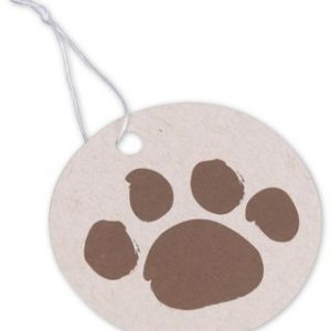 """Paws on Oatmeal Gift Tags, Circle, 2 1/2"""" (100 Tags) - BOWS-504-OPAWS"""