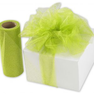 "Apple Green Sparkle Tulle, 6"" x 25 Yds (3 Rolls) - BOWS-SPARKLE-55"