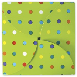 """Party Dots Gift Card Folders, 6 x 6"""" (100 Boxes) - BOWS-503-GCF-PD"""
