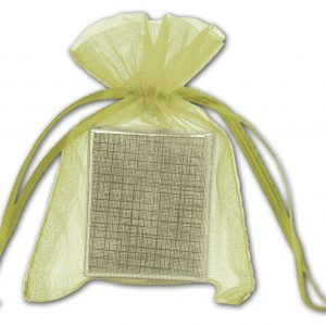 "Apple Green Organdy Bags, 3 x 4"" (12 Bags) - BOWS-SPC10-60"