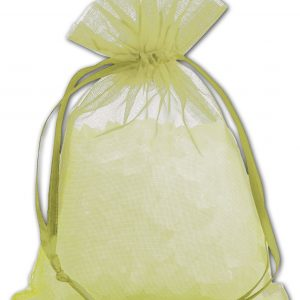 "Apple Green Organdy Bags, 4 x 5 1/2"" (12 Bags) - BOWS-SPC14-60"