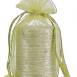 "Apple Green Organdy Bags, 5 1/2 x 9"" (12 Bags) - BOWS-SPC24-60"