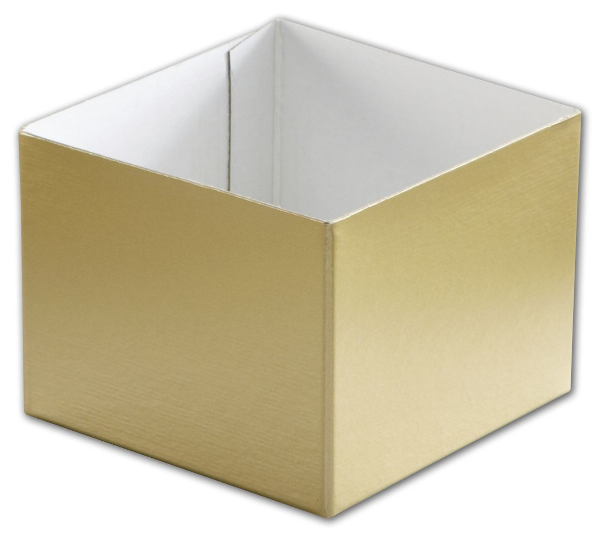 "Gold Hi-Wall Gift Box Bottoms, 4 x 4 x 3"" (50 Box Bottoms) - BOWS-H43-115"