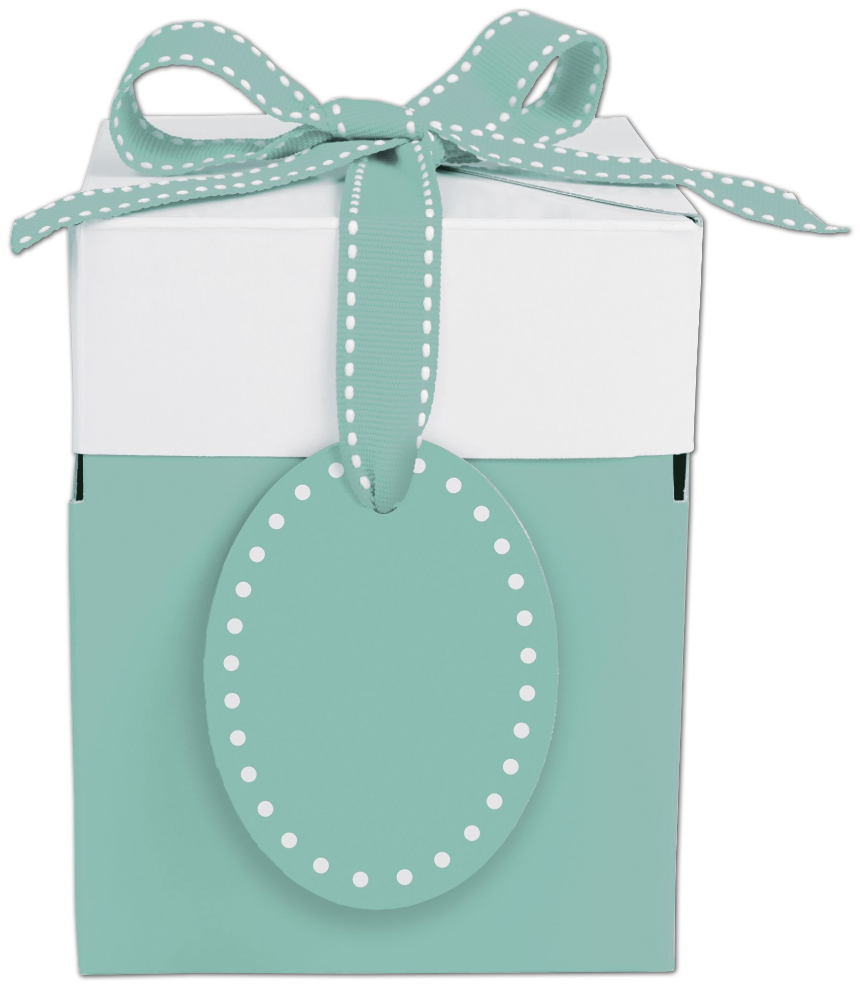 "Bottoms-Up Blue Giftalicious Pop-Up Boxes, 4 x 4 x 4 3/4"" (10 Boxes) - BOWS-4129-6557"