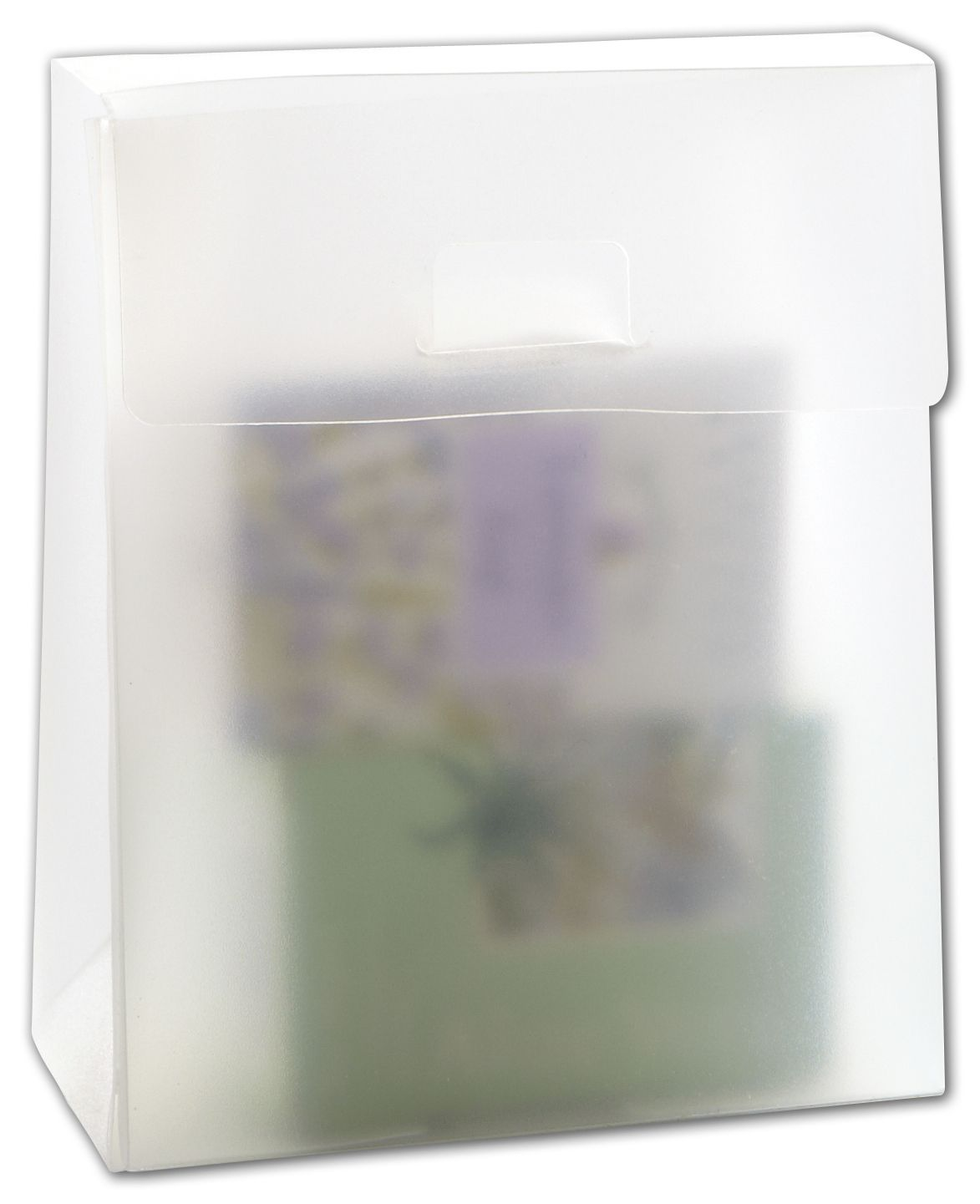 """Frosted Gusset Boxes, 6 1/8 x 2 1/2 x 5"""" (50 Boxes) - BOWS-250-060502-C"""