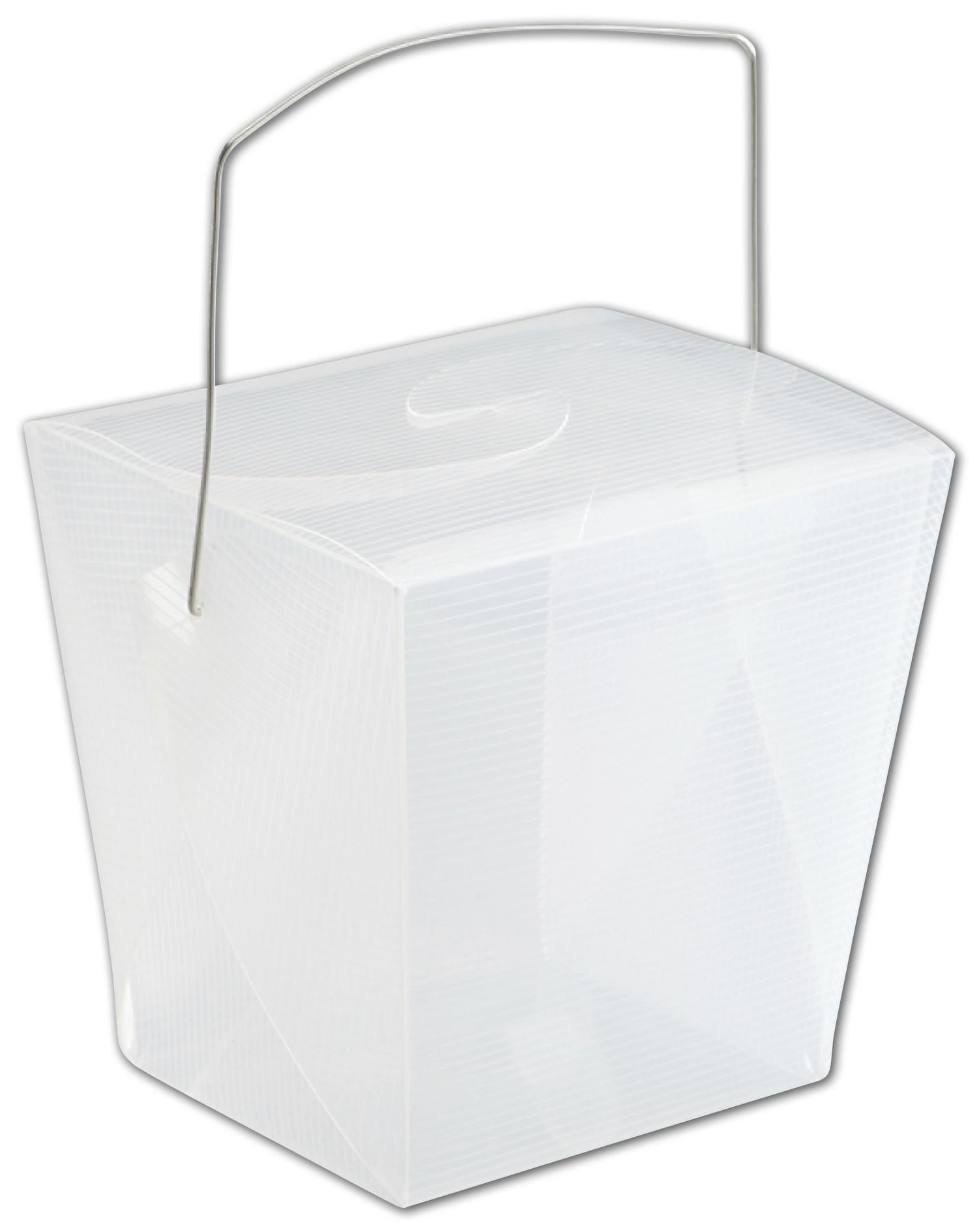 """Clear Grooved Event Boxes, 4 x 3 1/2 x 4"""" (12 Boxes) - BOWS-1152-1"""
