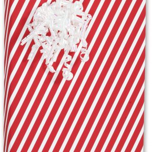 """Candy Stripes Red Gift Wrap, 30"""" x 100' (1 roll) - BOWS-C-CSTR"""