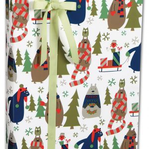 "All Wrapped Up Gift Wrap, 24"" x 417' (1 roll) - BOWS-M-5497H"