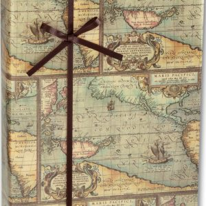 "World Map Gift Wrap, 24"" x 417' (1 roll) - BOWS-E-5400H"