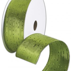 "Angelique Citrus Ribbon, 1 1/2"" x 25 Yds (1 Roll) - BOWS-AQUE-GRN"