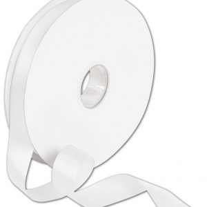 "Double Face White Satin Ribbon, 7/8"" x 100 Yds (1 Roll) - BOWS-088-7-029"