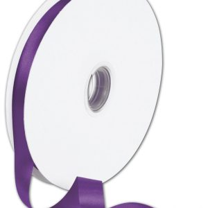 "Double Face Purple Satin Ribbon, 5/8"" x 100 Yds (1 Roll) - BOWS-088-5-465"