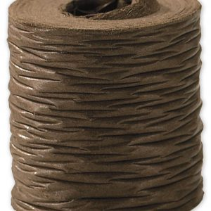 "Crinkle Paper Chocolate Ribbon, 1 1/2"" x 25 Yds (1 Roll) - BOWS-90909-18"