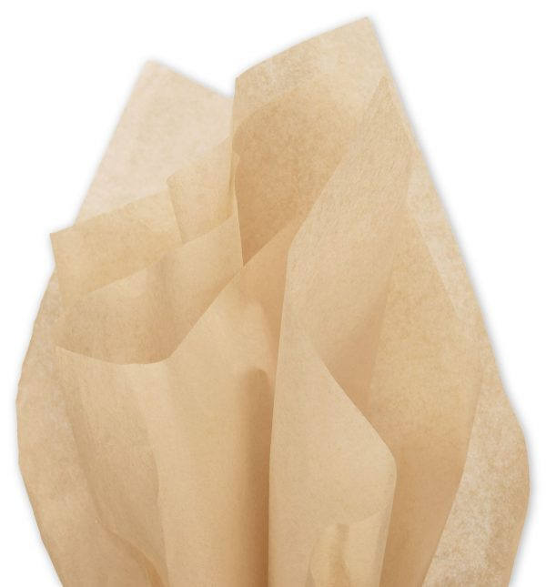 """Solid Tissue Paper, Tan, 20 x 30"""" (480 Sheets) - BOWS-11-01-31"""