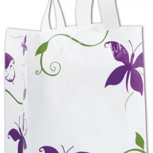 "All a Flutter Shoppers, 8 x 4 x 10"" (100 Bags) - BOWS-268-080410-AAF"