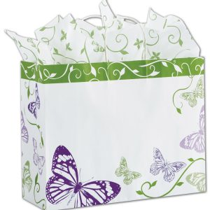 "All a Flutter Shoppers, 16 x 6 x 12 1/2"" (100 Bags) - BOWS-15-160612-AAF"