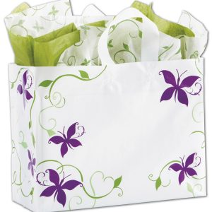 "All a Flutter Shoppers, 16 x 6 x 12"" (100 Bags) - BOWS-268-160612-AAF"