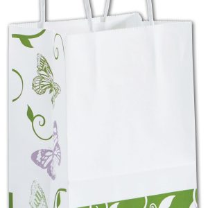 "All a Flutter Shoppers, 5 1/4 x 3 1/2 x 8 1/4"", Mini Pack (25 Bags) - BOWS-15-MMIN-AAF"