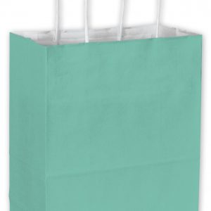 "Aqua Cotton Candy Shoppers, 8 1/4 x 4 1/4 x 10 3/4"" (250 Bags) - BOWS-15-080409-89"