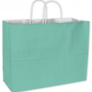 "Aqua Cotton Candy Shoppers, 16 x 6 x 12 1/2"" (250 Bags) - BOWS-15-160612-89"