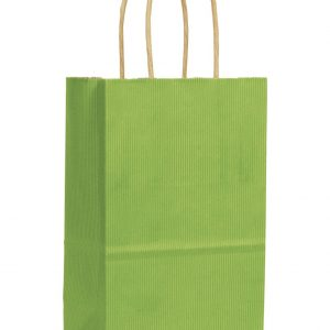 Apple Green Varnish Stripe Shoppers, 5 1/4x3 1/2x8 1/4 (250 Bags) - BOWS-15-050309-55