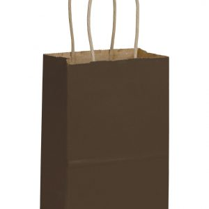 Chocolate Color-on-Kraft Shoppers (250 Bags) - BOWS-15-050308-44