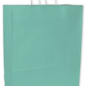 "Aqua Cotton Candy Shoppers, 16 x 6 x 19"" (200 Bags) - BOWS-15-160619-89"