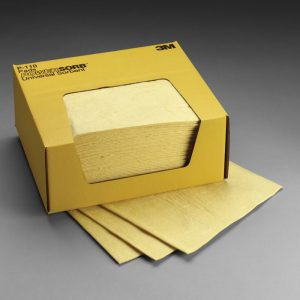 Spill Control - Chemical Sorbent Pads (1 Case; 4 Boxes Per Case) - SAFETY-3M-P-110