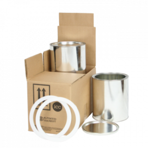 1 Gallon 2 Can Shipper Kit w/ 2 Ringloks and 2 Cans (No Insert) - COM-PK-N2GALC
