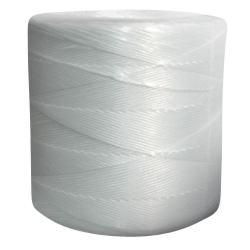 Synthetic Tying Twine - Polypropylene Split Film (White) - 90 lbs Tensile, 1250' Ft/Lb, 10# tube (4 Spiral Wraps)