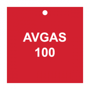 AVGAS 100, CPPI Tag, Square, Plastic, English