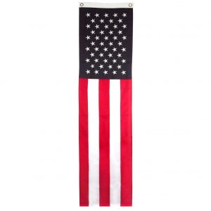 20inch x 8ft, US Flag Pulldown - Sewn Polyester - FG-USAOLSPD