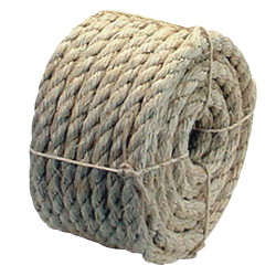 """Sisal Mini Coils - Natural - Retail Packaged - 3 Strand Sisal Rope - 1/4"""" x 50',385 lbs Tensile (48 Ropes)"""