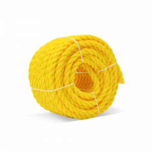 """PolyPRO Mini-Coils - Yellow - Retail Packaged - 3 Strand Polypro Rope - 3/8"""" x 50', 2430 lb Tensile (12 Ropes)"""