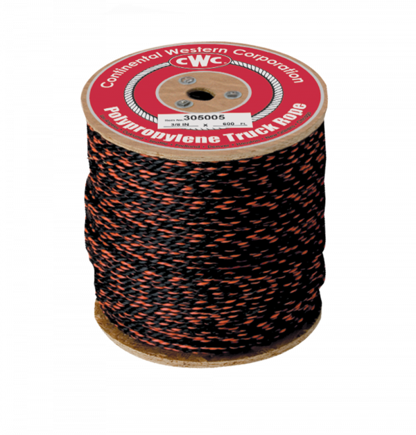 "PolyPRO Black-Orange Cal Truck Rope - 5/8"" x 600', 5580 lbs Tensile (1 Spool)"