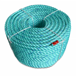 "Blue Steel Coils - Teal w/Dark Blue Tracer - Standard Lay - 1/4"" x 1200', 1600 lbs Tensile (1 Coil)"