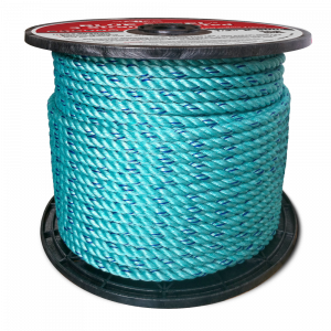 """Blue Steel Coils - Teal w/Dark Blue Tracer - Standard Lay - 5/16"""" x 1200', 3100 lbs Tensile (1 Coil)"""